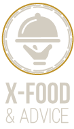 Xander Dumerniet's X-food and Advice Logo