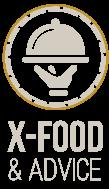 Xander Dumerniet's X-food and Advice Logo
